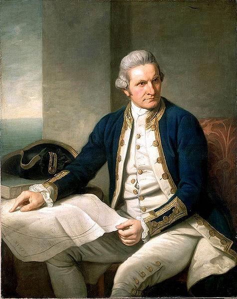 Il navigatore britannico James Cook.